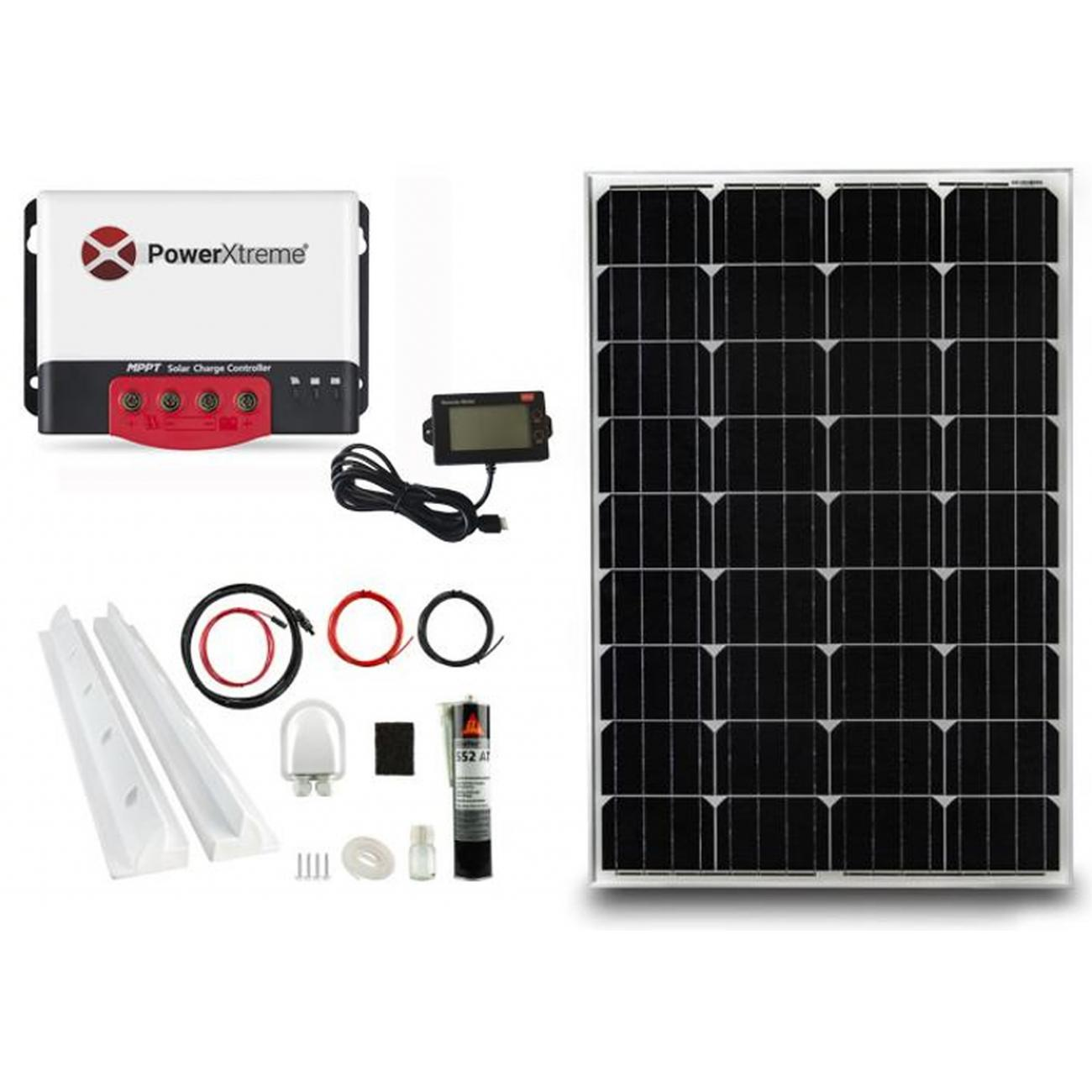 PowerXtreme XS20s Solar MPPT With Display 100W Package